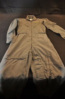 Coveralls Flyer's Summer Fire Resistant 32R Flight Suit CWU-27/P Sage Green A98