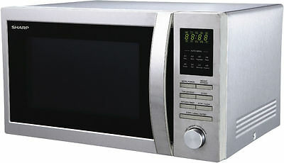 NEW Sharp Microwave S/Steel Silver with Stylish Dial Control  R32BST
