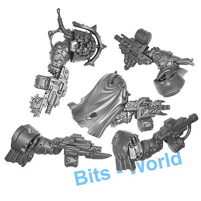 WARHAMMER 40K BITS: CHAOS SPACE MARINES Blightlords - Arms with Bolter x5