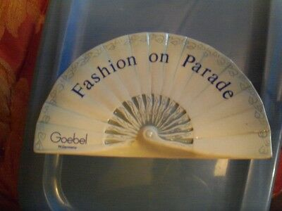 """Advertising Store display sign Goebel West Germany  Fashion on Parade   7"""""""