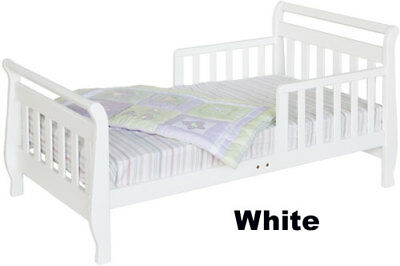 Sleigh Toddler Bed, White - M2990W