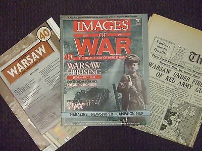Images Of War Magazine #40 Warsaw Uprising 1944 With Campaign Map & Newspaper !!