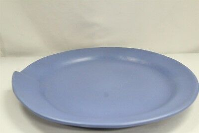 Gladding McBean Catalina Matte Blue Speared Pottery Charger Plate RARE Shape
