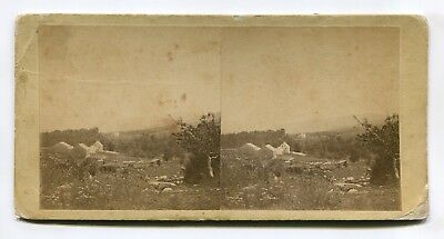 Early Avon, Maine Worthley Farm near Mt Blue Stereoview by Merrill