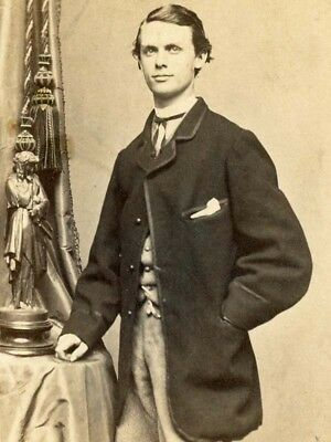 1860s CDV HANDSOME YOUNG GENTLEMAN BY BENHANN ROS OF BALTIMORE