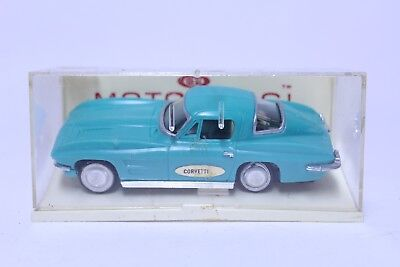 Nice Vintage Ideal Motorific Corvette Stingray In Turquoise W/ Case