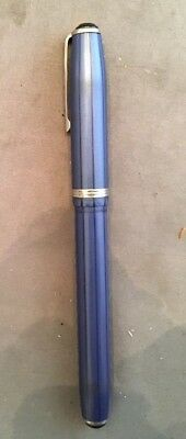 "Vintage Esterbrook Fountain Pen Beautiful Blue Color with Stripe - 5"" Long NICE"