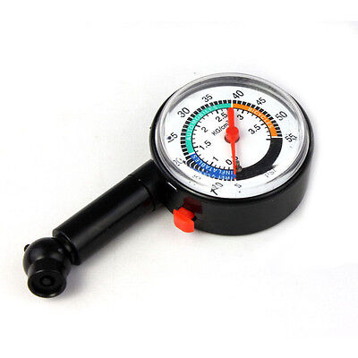 New Auto Motor Car Truck Bike Tyre Tire Air Pressure Gauge Dial Meter Vehicle T