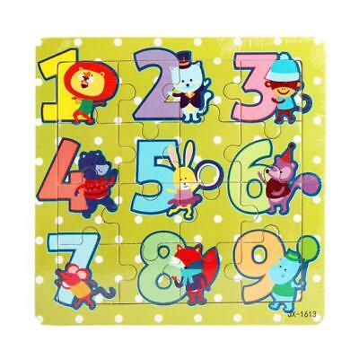 Numeral Wooden Kids 16 Piece Jigsaw Toys Education Learning Puzzles Toys