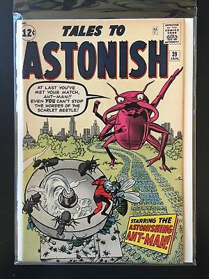 1960s MARVEL TALES TO ASTONISH COMIC BOOK # 39 EARLY ANT MAN HIGH GRADE!