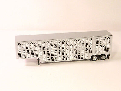 HO 1:87 Plastic Truck Trailer LARGE LIVESTOCK CATTLE TRANSPORTER TRAILER