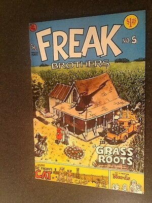 Fabulous Furry Freak Brothers #5 (1977), Underground Comix, Third Printing,