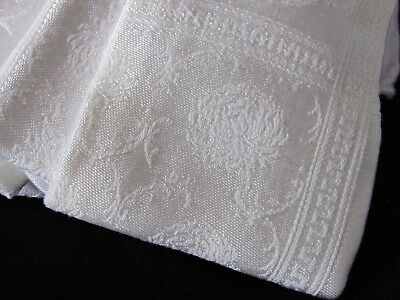 ANTIQUE WHITE LINEN  TABLECLOTH  With NAPKINS