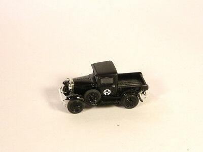 HO 1/87 Plastic Vehicles 1920s FORD PICKUP SANTA FE RAILROAD Black