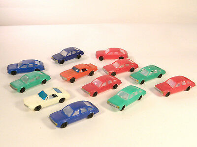 HO 1/87 Plastic Vehicles LOT #1 of ONE DOZEN (12) ASSORTED CHEAP PLASTIC CARS