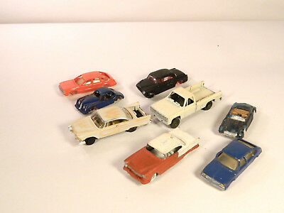 HO 1/87 Plastic Vehicles LOT of EIGHT (8) ASSORTED CARS for AUTOMOBILE JUNKYARD