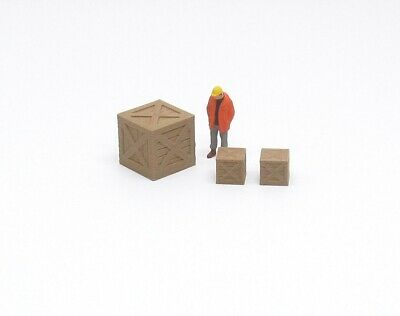 Shipping Crate Set 1:50 Scale Made From Wood / Plastic Composite