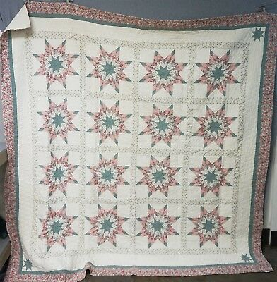 """80.5x78"""" Handmade Cotton Quilt by Arch Quilts Elmsford, NY"""