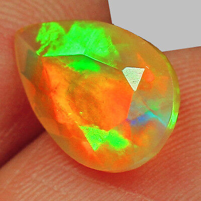 1.45CT 100% Natural Ethiopian Play Of Color Welo Opal Faceted Cut MQOL36