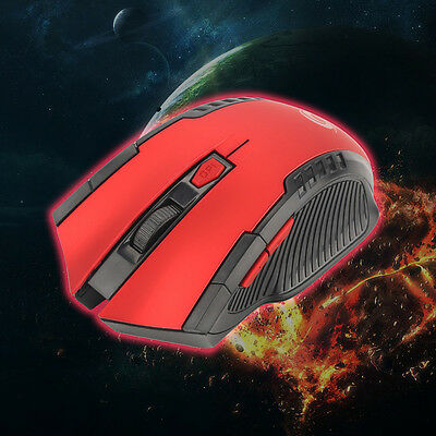 2.4Ghz Red Mini Wireless Optical Gaming Mouse Mice + USB Receiver For PC Laptop