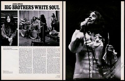1968 Janis Joplin 5 photo Big Brother and the Holding Company vintage article