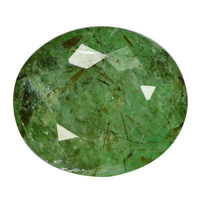 6.31Ct Fantastic Oval cut 12 x 10 mm Green Colombian Emerald