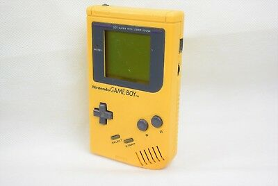 Nintendo Game Boy Bros Original YELLOW Console JUNK Not Working DMG-01 gb 1232