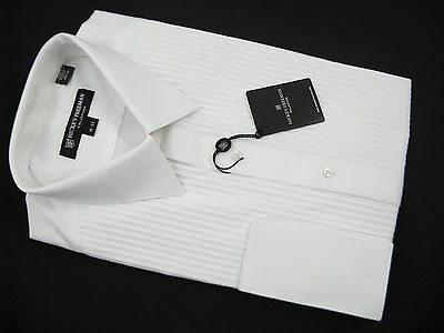 NEW! NWT! $195 Hickey Freeman Formal Tuxedo Dress Shirt!  16 37  Pleated Bib
