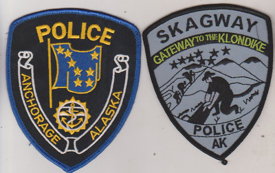 Anchorage & Skagway AK Police patches