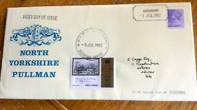 Railway First Day Cover North Yorkshire Pullman