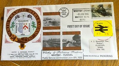Railway First Day Cover North Yorkshire Moors Railway