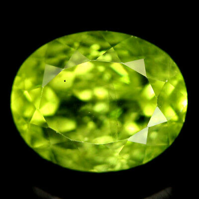 3.22 CT REAL! UNHEATED 8 X 10 mm. GREEN PAKISTAN PERIDOT OVAL