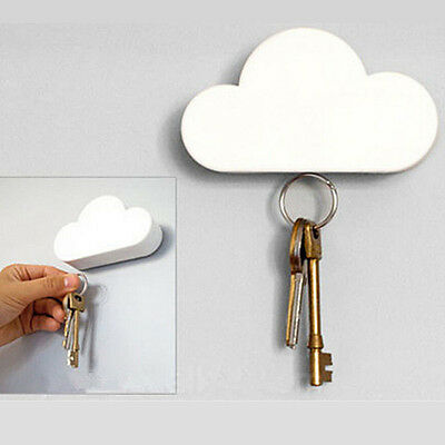 Fashion White Creative Novelty Cloud Shape Magnetic Key Holder Keychain Search