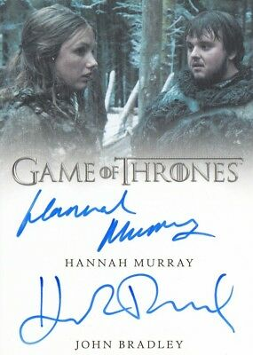 Game Of Thrones Valyrian Steel - Bradley And Murray Dual Autograph Card Vl