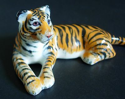 Ceramic TIGER Orange Stripy Wild Cat Coloured Ornament Curio Display Animal Gift