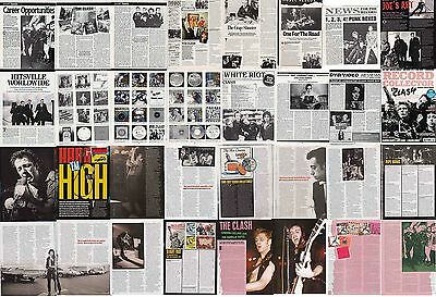 THE CLASH : CUTTINGS COLLECTION -interviews etc-