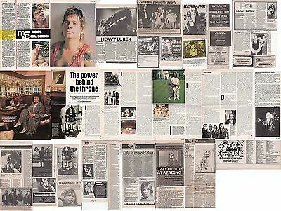 OZZY OSBOURNE : CUTTINGS COLLECTION -adverts interviews- 1980s