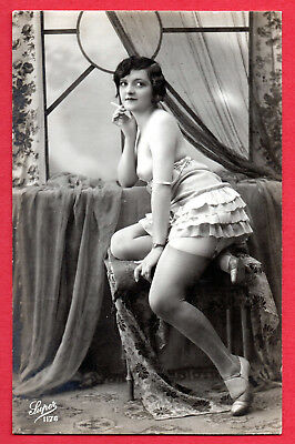 """FRENCH NUDE by """"SUPER"""" :Orig. Real Photographic postcard ca.1920"""