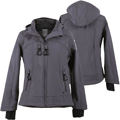 QHP Kinder Softshell Jacke Gwen Junior anthr Fleece-Futter Kapuze Winter 2017/18