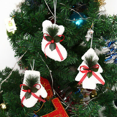 Xmas Christmas Stockings Gloves Tree pendant Hanging craft Ornaments doll Gift