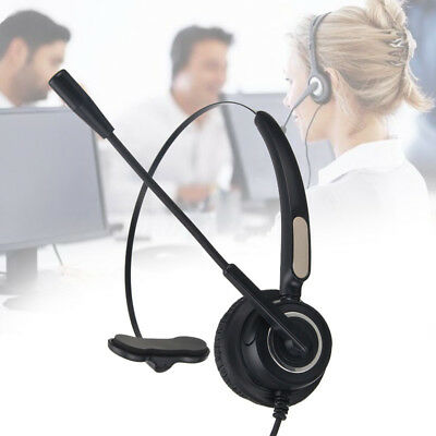 Telephone RJ9 plug Headset For Call Center Office With Mic Noise Cancel Stereo