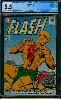Flash # 120  Land of Golden Giants !   CGC 5.5 scarce book !
