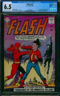 Flash # 137  Vengeance of the Immortal Villain !   CGC 6.5 scarce book !
