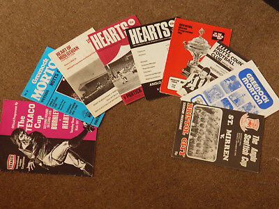 Collection Of 9 Anglo Scottish/Texaco Cup Football Programmes, Listed.