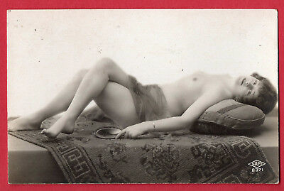 """FRENCH NUDE by """"SAPI"""" :Orig. Real Photographic postcard ca.1920"""