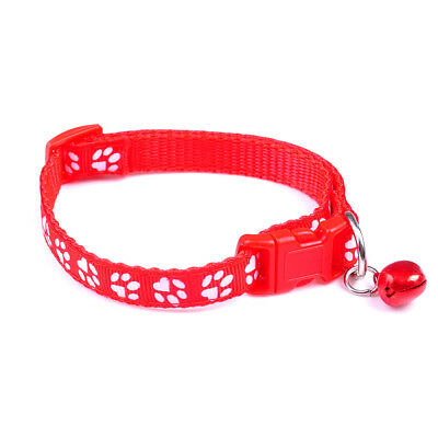 New Cute Small Footprint With Bell Pet Collar Nylon Fabric Cat Kitten Dog Puppy