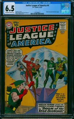 Justice League of America # 4  Doom of the Star Diamond !  CGC 6.5 scarce book !