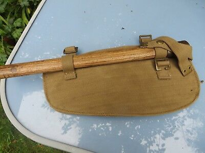 Ww2 1944 D Day Dated Entrenching Tool And Canvas Bag
