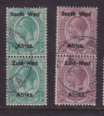 South West Africa 1923 SG 1,3 & 7 used CV> £35