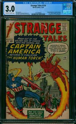 Strange Tales # 114  Return of Captain America !   CGC 3.0 scarce book !